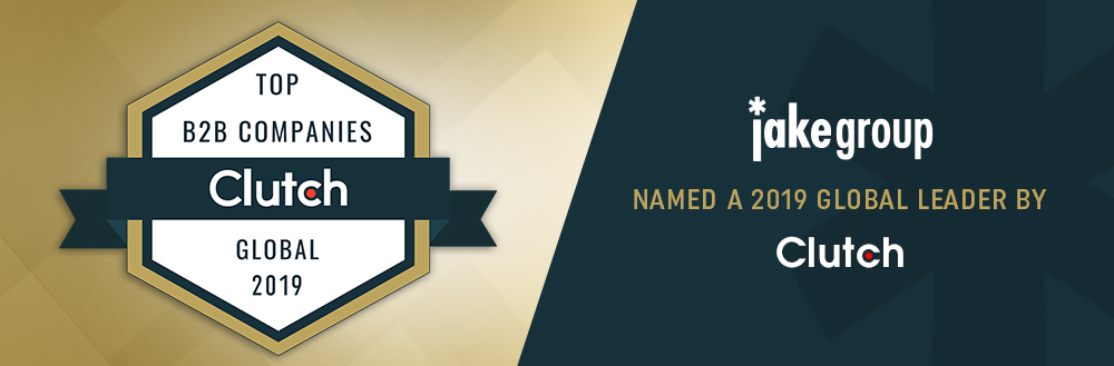 Jake Group Recognized as a Global Leader in the Creative & Design Category By Clutch!