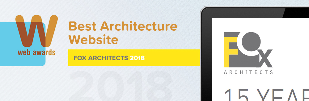 The Jake Group Wins the 2018 Best of Industry Architecture WebAward for FOX Architects