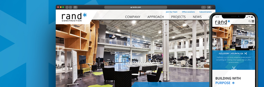 Jake Launches New Website for rand* construction