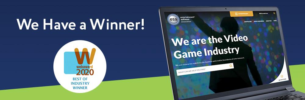 Jake Group Wins WMA 2020 WebAward for the Entertainment Software Association Website